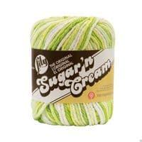 Lily Sugar'N Cream 4 Ply Knitting Wool Yarn 56.7g -2713 Key Lime Pie Ombre